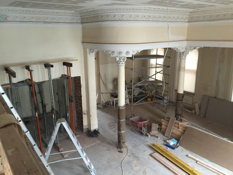 Overview of the ground floor tenancy area being refurbished as part of stage 1 works