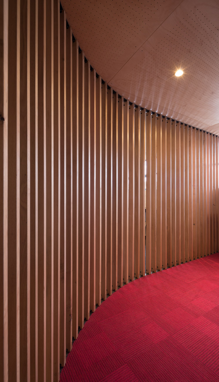 Timber slat wall detail