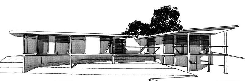 Rock McRae House Sketch Design